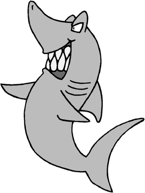 Cartoon Shark Clip Art